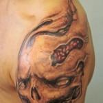 Shoulder Skull Tattoo Designs For Men