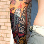 Skull Arm Creative Tattoo Designs