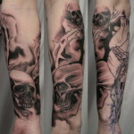 Skull Full Sleeve Tattoo Designs For Men