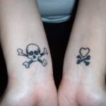 Skull Wrist Tattoo Designs For Women