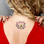 Small Lotus Tattoo Designs On Neck