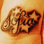 Sofia Name Tattoo Designs