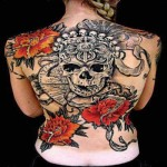 Stylish Back New Tattoo Designs For Women