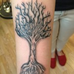 Trees Arm Tattoo Designs