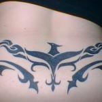 Tribal Lower Back Black Tattoo Designs