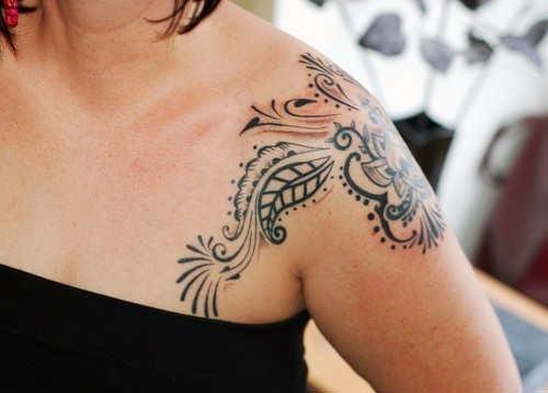 tribal shoulder tattoo designs for women tattoo love. Black Bedroom Furniture Sets. Home Design Ideas