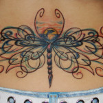 Unique Dragonfly Lower Back Tattoo Designs
