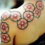 Wonderful Flower Tattoo Designs For Women
