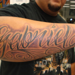 Wonderful Name Tattoo Designs For Men On Arms