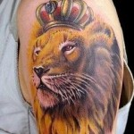 Wonderful Shoulder Lion Tattoo Designs For Men