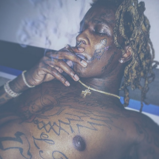 YOUNG THUG GETS ICE CREAM CONE TATTOO ON FACE TO HONOR