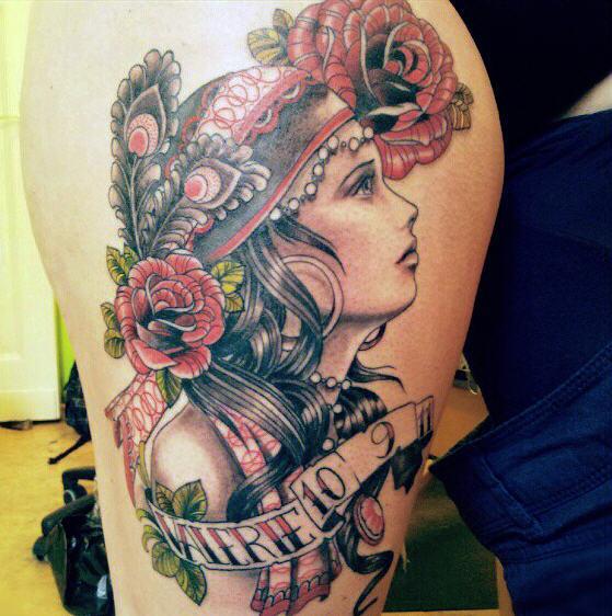 26-gypsy-girl-tattoo_559_562 Gypsy Girl Tattoo
