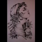 93_pencil-drawing-a4_540x371 Gypsy Girl Tattoo