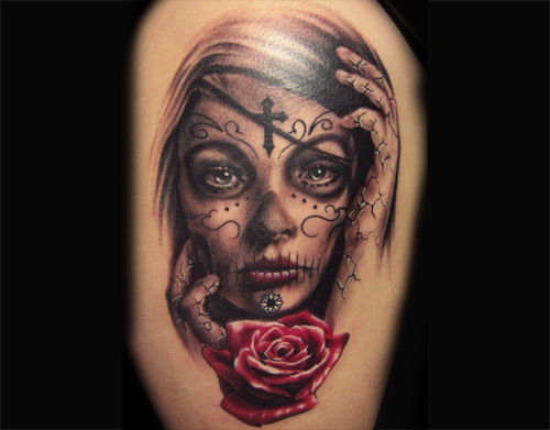 Day-of-the-Dead-Gypsy-Tattoo