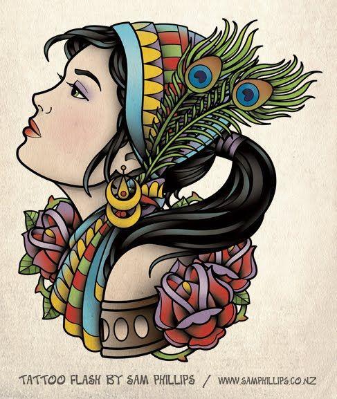 Gypsy Girl Tattoo6