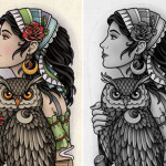 Gypsy-Girl-with-Owl-Tattoo Gypsy Girl Tattoo