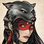 Gypsy-Girl-with-Wolf-Headgear-Tattoo