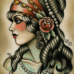 Gypsy-Tattoo-Design-Flash-Gypsy Girl Tattoo