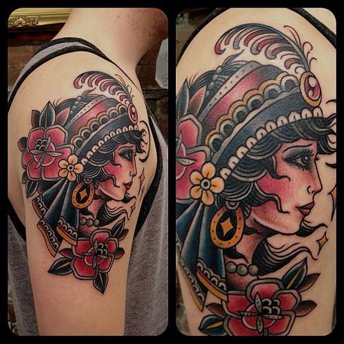 gypsy-tattoo-on-arm Gypsy Girl Tattoo