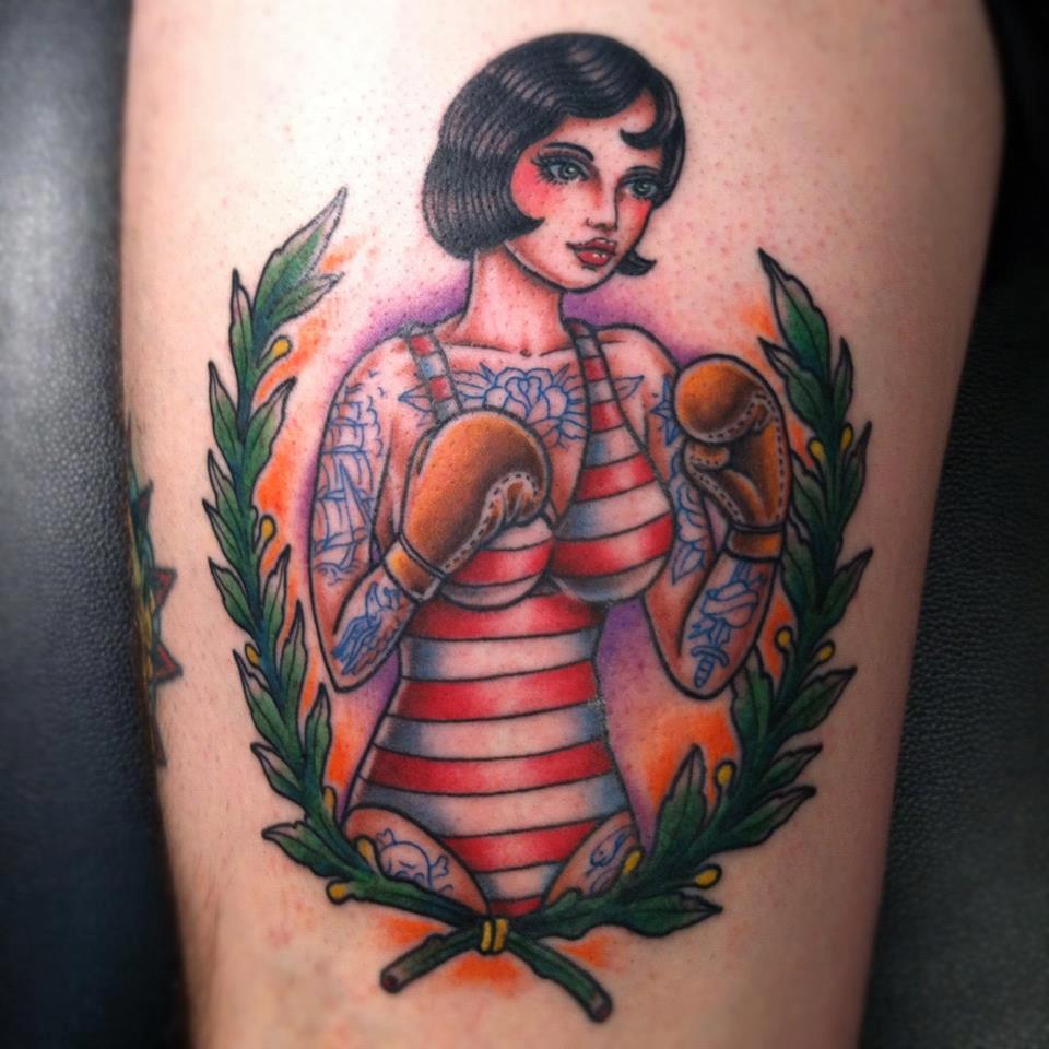 New School Portrait Tattoo Designs