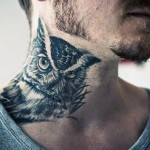 owl-side-neck-tattoos