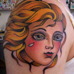 33 Old School Women Tattoos